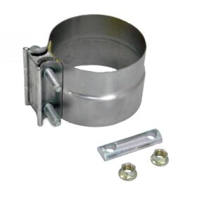 """Alliance Exhaust Clamp. 4"""" Preformed Band Clamp W/ Gasket Torctite - Aluminized Steel Part # ABP N35 40PLAG from Tracey Truck Parts"""