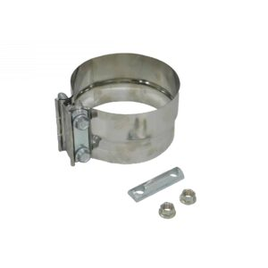 Alliance Exhaust Clamp. 5 Inch, Pre-Formed Band Clamp TorcTite, 304 Stainless Steel. Part #ABP N35 50PLS From Tracey Truck Parts