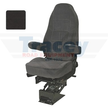 Black Cloth Heritage Air Ride Seat Part # 189800KA21 from Tracey Truck Parts   Seats Inc Truck Seats For Sale Online.
