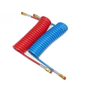 """TTP Haldex 15' Coiled Air Hose Assembly, 15' COILED W/ 12"""" LEADS. Part # TTP HDX 11952 From Tracey Truck Parts"""