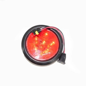 Truck Lite Tail Lamp Super 44, LED, Red Round 6 Diode Stop/Turn Tail Lamp, Black Grommet Mount, Fit And Forget Part # TL 44030R | Tracey Truck Parts