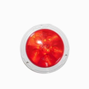 Truck Lite 44 Series LED Stop, Turn, Tail Red Lamp. Flange Mount. Part # TR 44204RB from Tracey Truck Parts.