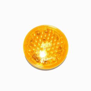 Truck Lite Super 44 LED, Strobe, 42 Diode, Round Yellow Fit And Forget.Part # TR 44211Y from Tracey Truck Parts.