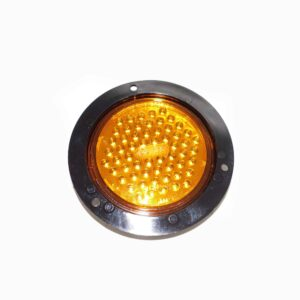Truck Lite Super 44 LED, Yellow Round, 60 Diode Front Park/Return. Flange Mount. Part # TL 44224Y from Tracey Truck Parts.