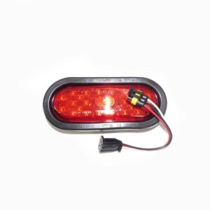 Truck Lite 60 Series, LED, Red Oval 26 Diode, Stop/Turn/Tail Black Grommet Mount. Part # TL 60050R from Tracey Truck Parts.