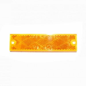 Truck Lite Rectangular, Yellow, Reflector, 2 Screw Or Adhesive Mount. Part # TL 98003Y from Tracey Truck Parts.