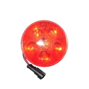 Truck Lite Super 44, LED, Red, Round, 6 Diode, Stop/Turn/Tail light.Part # TL 44353R from Tracey Truck Parts.