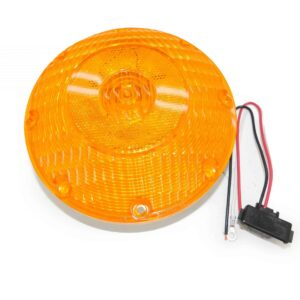 Truck Lite 91 Series, Incandescent, Yellow Round, 1 Bulb, Front/Park/Turn Signal. Part # TL 91002Y from Tracey Truck Parts.