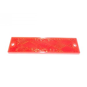 Truck Lite Rectangular, Red, Reflector, 2 Screw Or Adhesive Mount. Part # TL 98003R from Tracey Truck Parts.