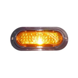 Truck Lite 60 Series, LED, Yellow Oval, 44 Diode, Front/Park/ Turn. Part # TL 60292Y from Tracey Truck Parts.