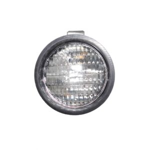 Truck Lite PAR 36, Rubber 5 inch Round Incandescent Work Light, Black, 1 Bulb. Part # TL 80360 from Tracey Truck Parts.
