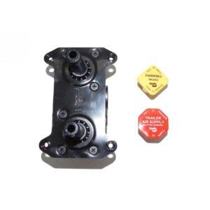 "Bendix MV-3 Valve Dash Control Module Two Button Push-Pull Valve M6 X 1-6h Mounting Holes, 3/8"" Ptc Ports Part # BW 800840"